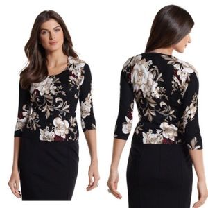 White House| Black Market Floral Cardigan.